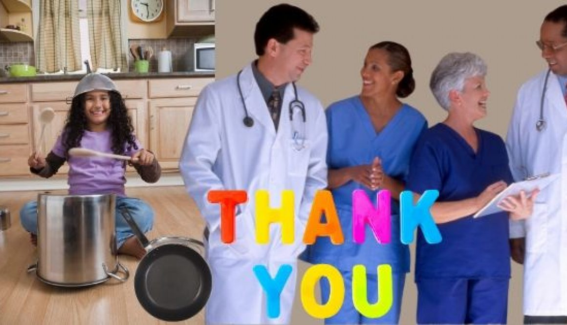 Play-Your-Pan-with-a-Smile thank you to frontline workers