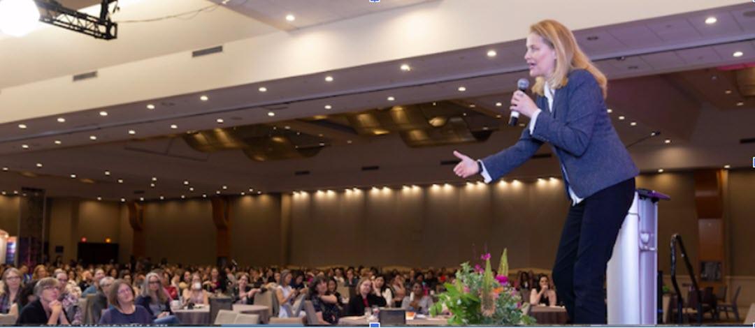 Canada's Keynote humourist Judy Croon on stage